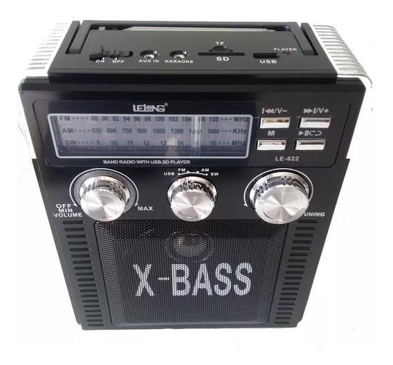 Rádio Am/fm Mp3 Entrada Usb Cartão Pendrive, Pilha E Energia