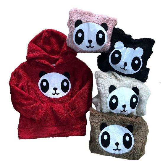 Blusa De Frio Paris Panda Feminina Pelinho Pelúcia