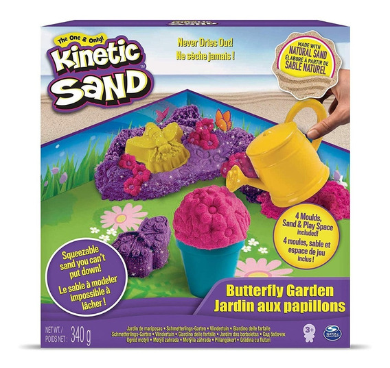 Kinetic Sand Set Jardin De Mariposas