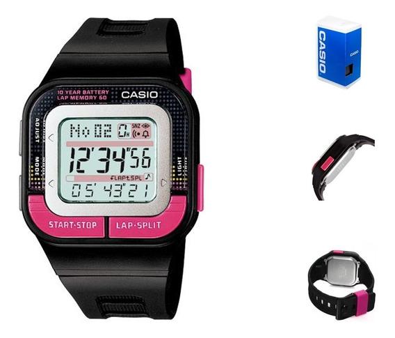 Reloj Casio Sdb100 1b Mujer Digital Cronometro Correa Negra