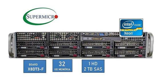 Servidor Rack 2u Dual Xeon Quad Core - 2tb Sas 32gb Ram