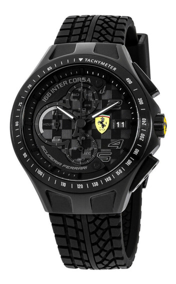Relógio Masculino Ferrari 0830105 Pulseira De Silicone