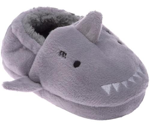 Imagem 1 de 6 de Pantufa Infantil Antiderrapante Menino Beb Pimpolho Tubarão