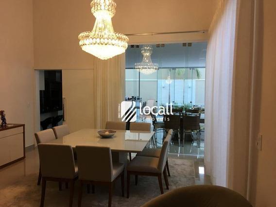 Casa Com 3 Dormitórios À Venda, 243 M² Por R$ 1.370.000 - Parque Residencial Damha V - São José Do Rio Preto/sp - Ca1866