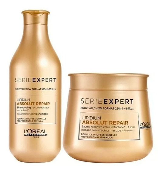 Shampoo + Mascara Baño De Crema Loreal Absolut Repair Lipidi