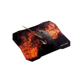 Combo Mouse Gamer E Mouse Pad Laranja Multilaser