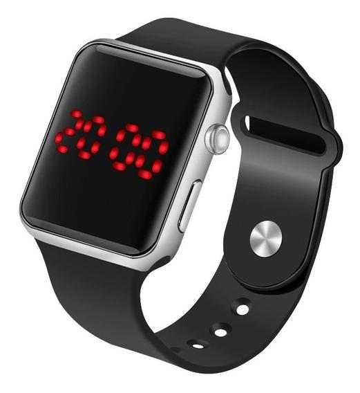 Relógio Digital Led Sport Unissex - Tipo Apple Smart Watch