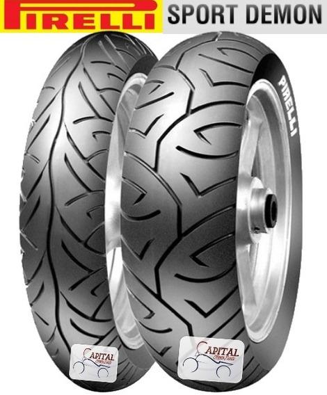 Par Pneu De Moto 140/70 17 E 110/70 17 Pirelli Sport Demon