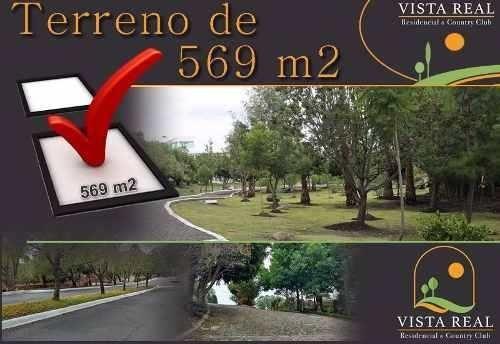Terreno De 569 M2, Esquina, Fracc. Vista Real Y Country Club