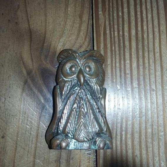 Búho Lechuza De Metal 7,5cm De Alto (cu6)