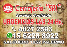 Cerrajeria Sri / Urgencias 24 Hs 1562288922