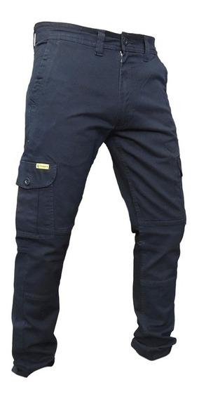 Pantalon Cargo Elastizado Pampero Trabajo Bolsillo Hombre