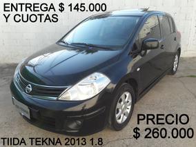 Nissan Tiida Tekna 2013 1.8 *financio Un 50%*recibo Menor*