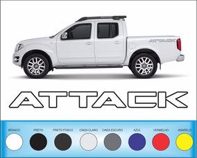 Acessórios Attack Frontier Kit De Adesivos Laterais O Par