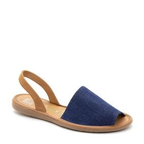 Sandália Avarca Vizzano Camurça Camel Jeans Azul 6280.100