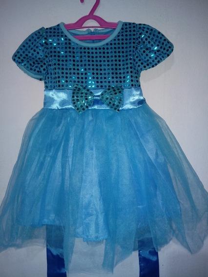 Vestido Luxo Festa Infantil Aniversário Paetês Princesa
