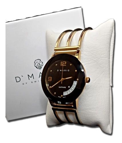 Reloj D'mario Ze1171g Cupula Esqueleto Caballero Original