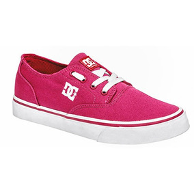Tenis Dc Shoes Sneaker Flash Skate Dama Tex Fucsia 84937 Dtt
