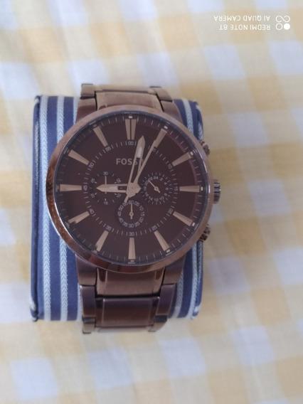 Relógio Fóssil 100% Original Fs4357 Marrom + Frete Grátis