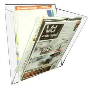 Revistero Transparente Para Pared De Acrílico 3mm
