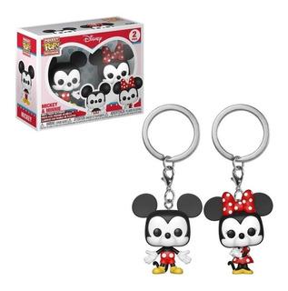 Funko Disney Pocket Pop Mickey & Minnie Mouse Set Llaveros