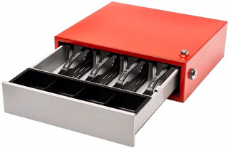 Gaveta Caja Dinero 4 Compartimentos Con Llave Timbre