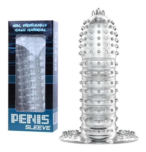 Funda Cristal De Silicona Texturada Para El Pene Sex Shop