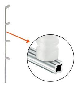 Haste Cerca Elétrica 75cm Com 04 Isoladores Modelo Estrela