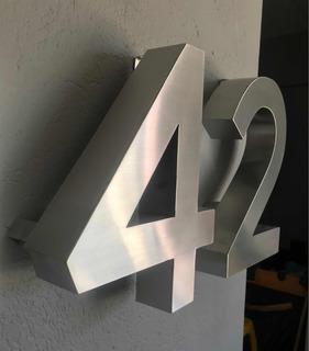 Números Residenciales 3d 30 Cm Iluminación Led 2 Piezas