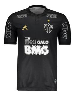 Camisa Atletico Mg Preta Bmg 2019 Le Coq Masculina