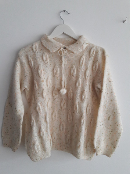 Sweater Vintage Color Crema Talle L