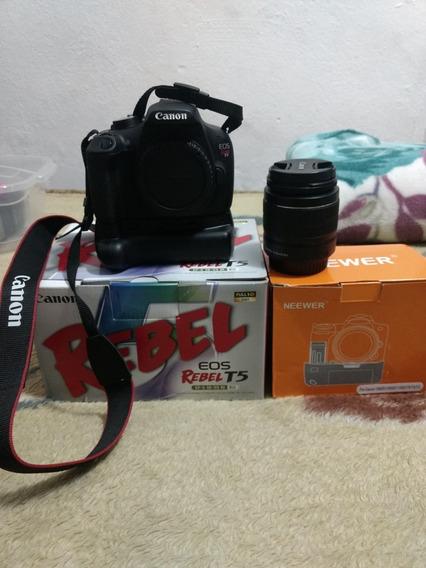Câmera Canon Eos T5 Com Grip E 2 Baterias