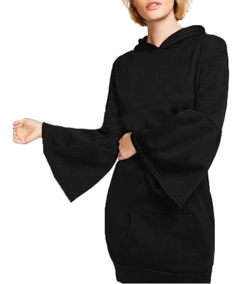 Buzo Vestido Con Acampanado Invierno