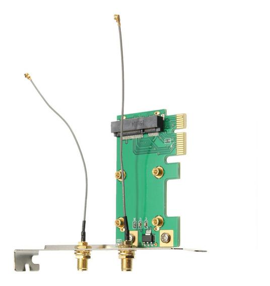 Placa De Rede Wifi Sem Fio Mini Pci-e Para Pci-e Adaptador P