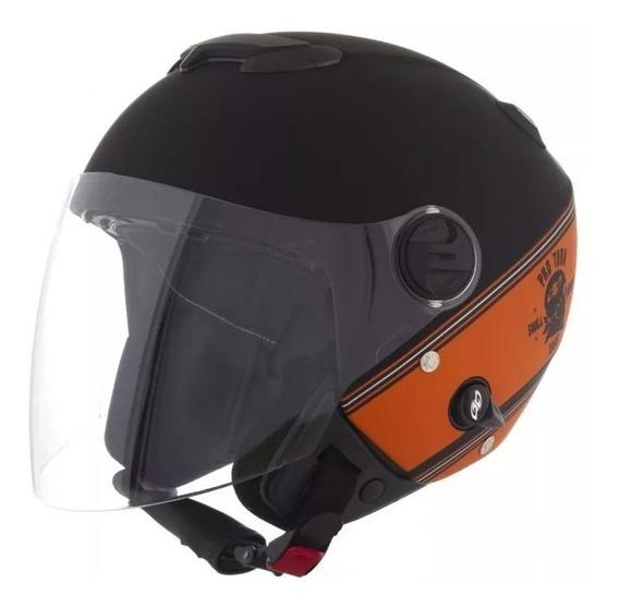 Capacete Moto Custom Atomic Skull Riders Pro Tork + Brinde
