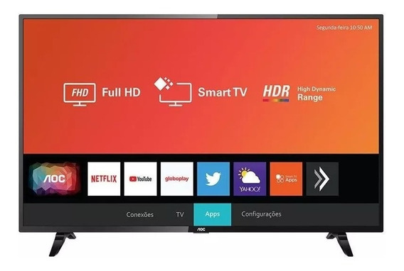 Smart Tv 43 Polegadas Led Aoc 43s5295/78g Com Wifi 2 Usb