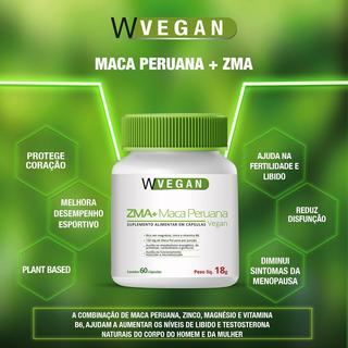 Zma + Maca Peruana 400mg 60 Capsulas Wvegan