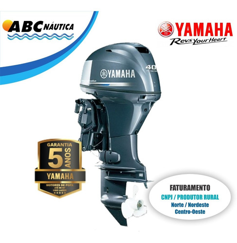 Motor De Popa Yamaha 40hp 4t  Leia Anúncio  Pronta Entrega