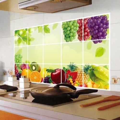 Vinil Cocina Decorar Frutas Pared Cuadros Vinyl Grande