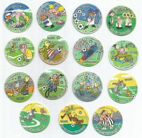 Lote Com 10 Tazos Da Coleção Elma Chips Copa Cartoon Network