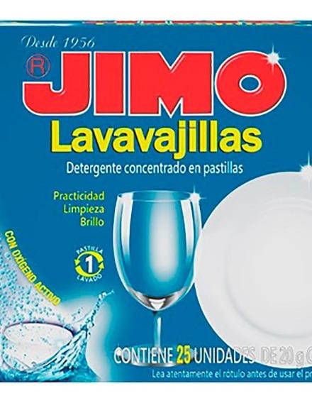 Lavavajillas Jimo En Pastillas 25 Un X 20 Grs
