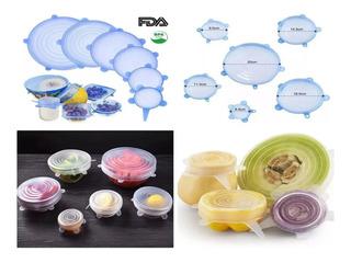 6 Tapas De Silicon Flexible Reutilizable Ecologico Comida