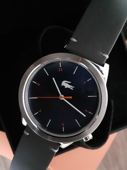 Relógio Lacoste Original Pulseira Em Couro