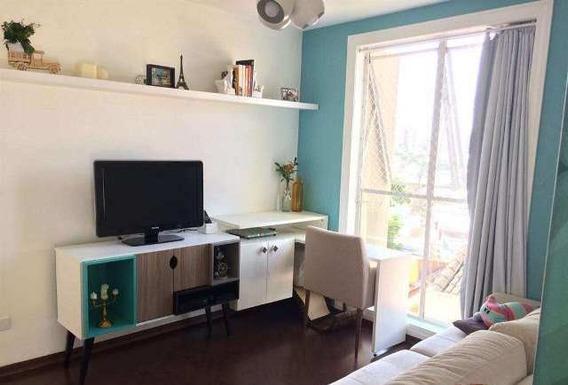 Apartamento 53m² Vila Valparaíso Santo André 1 Dormitório 1 Vaga - Ap834v