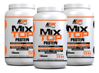 3 Whey Protein 2kg (total 6kg) Mix Top Proteico
