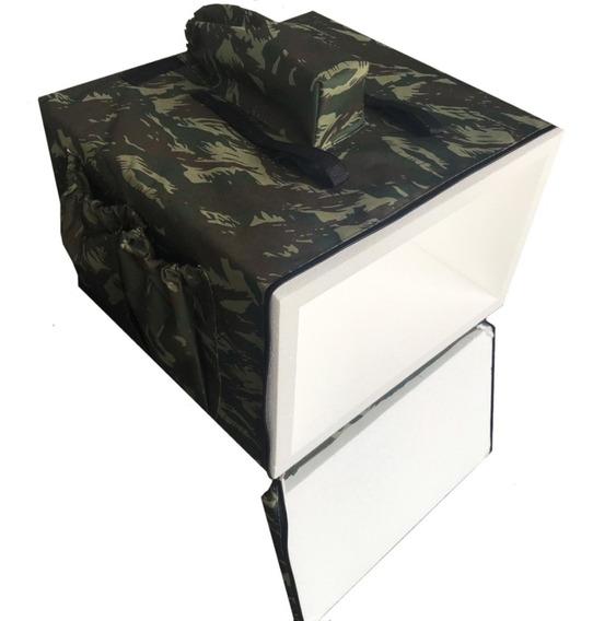 Bolsa Mochila Camuflada Com Caixa Térmica Para Motoboy 44cm