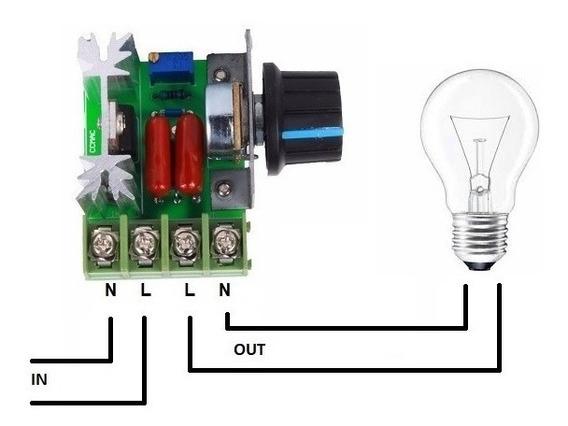 Controlador Fonte Motor C/potenciômetro Ac 50v-220v-2000w-