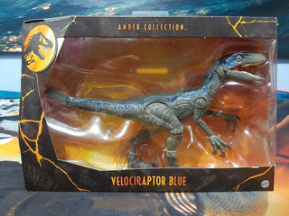 Velociraptor Blue Amber Collection Jurassic World Nuevo