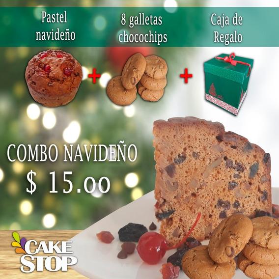 Cake Navideño!!... Delicioso Combo Con Galletas (8 Personas)