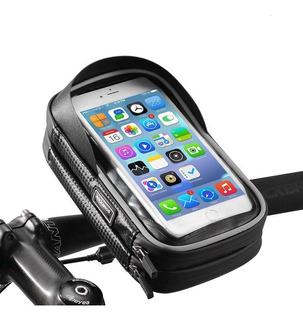 Bolsa Soporte Celular Pantalla Tactil Bicicleta Impermeable
